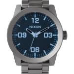 นาฬิกาผู้ชาย Nixon รุ่น A346-1427-00, Corporal SS Gunmetal Blue Crystal