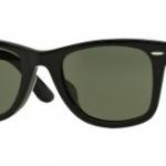 Ray-Ban แว่นกันแดด รุ่น Wayfarer RB2140F - Black (901) Size 52 Crystal Green