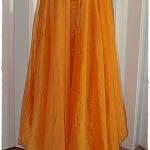 Sold กางเกง กระโปรง เอวจั๊ม สีส้ม แต่งเลื่อม