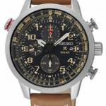 นาฬิกาผู้ชาย Seiko รุ่น SSC421P1, Solar Prospex Sky Aviator Chronograph Men's Pilots Watch