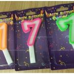 เทียนปักเค้กวันเกิด ตัวเลข 7