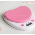 ตาชั่งดิจิตอล ตาชั่งส่วนผสม รูปหัวใจ สีชมพู 3กิโลกรัม