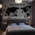 สติกเกอร์แผนที่โลกอย่างเท่ห์