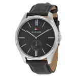 นาฬิกาผู้ชาย Tommy Hilfiger รุ่น 1791168, Curis Grey Dial Black Leather Men's Watch