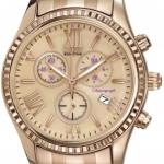 นาฬิกาข้อมือผู้หญิง Citizen Eco-Drive รุ่น FB1363-56Q, AML Chronograph Elegant Rose Gold Tone Watch