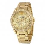 นาฬิกาผู้หญิง Fossil รุ่น ES3203, Riley Multi-Function Gold-tone