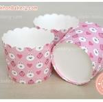 ถ้วยกระดาษ ปาเน็ตโทน ขอบหยัก ใหญ่ สีชมพู โคนี่ cony line