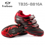 รองเท้าจักรยานเสือภูเขา TIEBAO รุ่น TB35-B816A สีแดงดำ