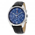นาฬิกาผู้ชาย Tommy Hilfiger รุ่น 1791182, Multi-function Blue Dial Black Leather