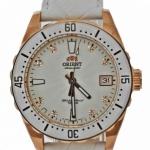 นาฬิกาผู้หญิง Orient รุ่น SAC0A003W0, Automatic Crystals Rose Gold Leather 100m