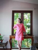 ลินิน สีชมพูแดง แขนยาว
