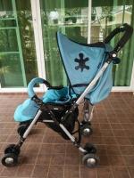 รถเข็นเด็ก Aprica รุ่น QL 193 สีฟ้าเบาะผ้าซาติน รหัสสินค้า : C0041