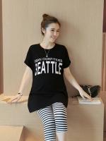 ชุดเสื้อคลุมท้อง+กางเกง 5ส่วน ลายน่ารัก เสื้อเป็นผ้ายืดนิ่มใส่สบาย M,L,XL,XXL