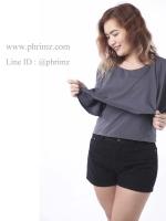 เสื้อให้นม Phrimz : Ivie Breastfeeding Top - Dark Gray สีเทาเข้ม