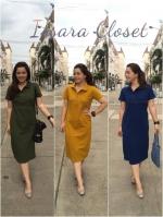 Dress Prima polo สีกรมท่า