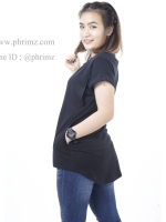 เสื้อให้นม Phrimz : Franki Breastfeeding Top - Black