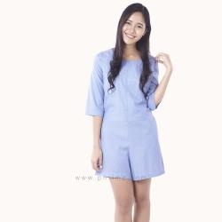 ชุดให้นม Phrimz : Emma Breastfeeding Jumpsuit - Royal Blue