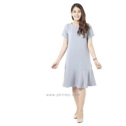 ชุดให้นม Phrimz : Mermaid Breastfeeding Dress - Charcoal Gray