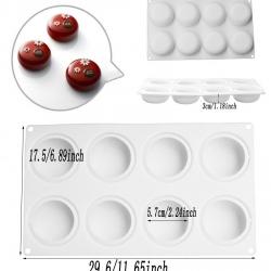 แม่พิมพ์ซิลิโคน 8 ช่อง พุดดิ้งไอศครีมเค้ก