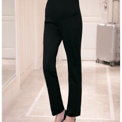 กางเกงทำงานคนท้อง ทรงสวย มีผ้าพยุงครรภ์และสายปรับขนาด สีดำ M,L,XL,XXL