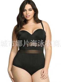 ชุดว่ายน้ำคนอ้วน วันพีช พร้อมส่ง : ชุดว่ายน้ำไซส์ใหญ่แฟชั่นสีดำ แต่งผ้าโปร่งแบบเก๋ sexy มากๆจ้า:รอบอก40-48นิ้ว เอว34-44นิ้ว สะโพก40-50นิ้วจ้า
