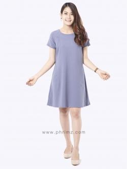 ชุดให้นม Phrimz : Elsa Breastfeeding Dress - Gray