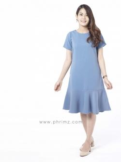 ชุดให้นม Phrimz : Mermaid Breastfeeding Dress - ฺBluberry