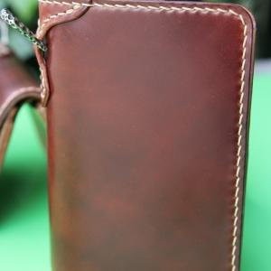 กระเป๋าสตางค์ชาย ใบกลาง หนังม้าแท้ ตามสั่งครับ