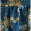 Sold เดรส ชีฟอง แขนสั้น เข้าเอว ซิปหลัง สีฟ้าอมเขียว ลายดอก thumbnail 3
