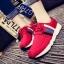 รองเท้าผ้าใบเกาหลีพื้นหนามีแทบสีด้านข้าง thumbnail 4