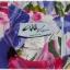 เดรส แขนตุ๊กตา เอวจั๊ม ซิปหลัง พื้นสีขาว ลายดอก thumbnail 4