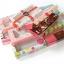 กล่องบราวนี่ 2 ชิ้น สีชมพู ลายดอกไม้ thumbnail 4
