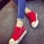 รองเท้าผ้าใบพื้นหนาแฟชั่นประดับซิปข้าง thumbnail 1