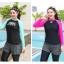 ชุดว่ายน้ำคนอ้วน แบบสปอร์ตพร้อมส่ง :ชุดว่ายน้ำไซส์ใหญ่สีดำชมพูแขนยาว set 3 ชิ้น. มีเสื้อแขนยาว บราและกางเกงขายาวติดกางเกงขาสั้น แบบสวยคุ้มสุดๆจ้า:เสื้อแขนยาวรอบอก36-42นิ้ว บรารอบอก34-40นิ้ว กางเกงขายาวติดกางเกงขาสั้น เอว28-36นิ้ว สะโพก36-44นิ้วจ้า thumbnail 6