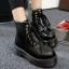รองเท้าบูทพื้นหนาประดับซิปด้านหน้า thumbnail 1