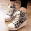 (พร้อมส่ง) รองเท้าผ้าใบลายเสือส้นสูงแฟชั่นซิปข้าง thumbnail 1