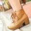 (พร้อมส่ง) รองเท้าหนังบูทมาร์ตินส้นสูงผูกเชือก thumbnail 1