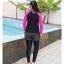 ชุดว่ายน้ำคนอ้วน แบบสปอร์ตพร้อมส่ง :ชุดว่ายน้ำไซส์ใหญ่สีดำชมพูแขนยาว set 3 ชิ้น. มีเสื้อแขนยาว บราและกางเกงขายาวติดกางเกงขาสั้น แบบสวยคุ้มสุดๆจ้า:เสื้อแขนยาวรอบอก36-42นิ้ว บรารอบอก34-40นิ้ว กางเกงขายาวติดกางเกงขาสั้น เอว28-36นิ้ว สะโพก36-44นิ้วจ้า thumbnail 3