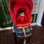 คาร์ซีทมือสอง Aprica Marshmallow สีแดง + หมวก รหัส CS0071 thumbnail 2