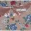 เดรสสั้น แขนสั้น เอวจั๊ม ซิปข้าง สีชมพู ลายดอก thumbnail 4