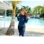 ชุดว่ายน้ำคนอ้วน พร้อมส่ง :ชุดว่ายน้ำไซส์ใหญ่สีน้ำเงินแบบสปอร์ตซิปหน้า set 5ชิ้น มีเสื้อแขนยาว บรา บิกินี่ กางเกงขาสั้นและกางเกงขายาว แบบสวยคุ้มสุดๆจ้า:รายละเอียดไซส์คลิกเลยจ้า thumbnail 5