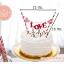 ชุดธงตกแต่งเค้ก ข้อความ Happy Birthday สีม่วง สีชมพู thumbnail 3