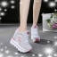 รองเท้าผ้าใบแฟชั่นพื้นหนาเสริมสูง 8-10 cm thumbnail 2