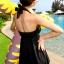 ชุดว่ายน้ำแฟชั่นพร้อมส่ง :ชุดว่ายน้ำสีดำผูกสายคล้องคอแต่งชายผ้าสีสันสดใส มีกางเกงใส่ด้านในน่ารักมากๆจ้า:รอบอก30-40นิ้ว เอว26-32นิ้ว สะโพก Freesize thumbnail 1