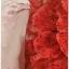 Sold เดรสยาว คอปีน แขนยาว เข้าเอว ซิปหลัง ผ้าลูกไม้ สีแดง แขนเสื้อ และซับใน สีชมพู thumbnail 3