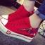 รองเท้าผ้าใบพื้นหนาแฟชั่นประดับซิปข้าง thumbnail 3