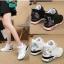 รองเท้าผ้าใบเสริมสูง Velcro หนัง Pu thumbnail 1
