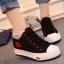 รองเท้าผ้าใบหุ้มข้อพื้นหนาแฟชั่นเกาหลี thumbnail 1