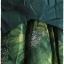 เดรส ผ้าต่อ เสื้อแขนยาว เข้าเอว ซิปหลัง สีเขียวเข้ม กระโปรง ผ้าแก้ว พิมพ์ลาย แต่งโบว์ thumbnail 2