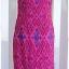 Sold ชุดกี่เพ้า ผ้าไหมไทย สีชมพูบานเย็น พิมพ์ลาย thumbnail 1